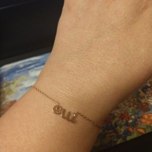 "Jewelry - Rose gold plated ""oui"" bracelet- stacking"